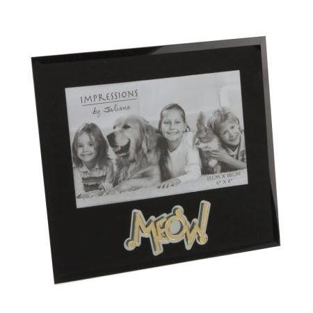 MEOW Cat Photo Picture Frame 6x4