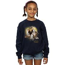 Star Wars niñas The Last Jedi Porgs Brushed Camisa De Entrenamiento