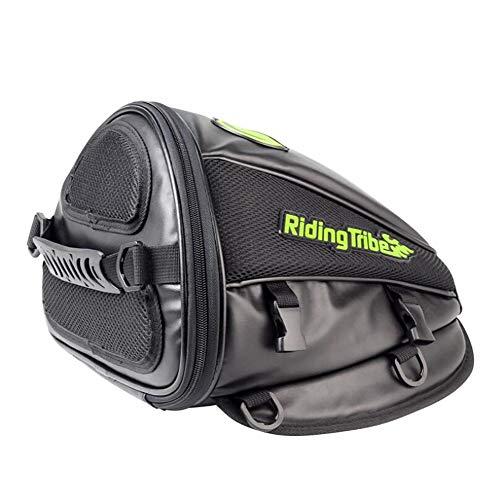 CompraJunta Motorrad-Tasche für Rücksitz, PU-wasserdichtes Leder+Poliester (300 * 280 * 210mm), Umhängetasche 1.0L