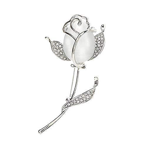 JJrainning Brosche n-Version der auffälligen Tulpe Tulpen Frauen tragen Brosche Zubehör, um Geschenke Strass Brosche