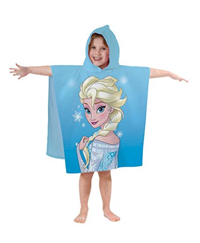 BERONAGE Badeponcho Frozen - Die Eiskönigin Motiv Elsa Neu & Ovp - Poncho - Badetuch - Strandlaken - Handtuch - Badeumhang - Bademantel - Umhang - Mantel