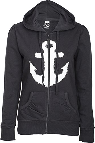 Küstenluder WHITE ANCHOR Anker Sailor Hooded Zip Sweat JACKE Rockabilly