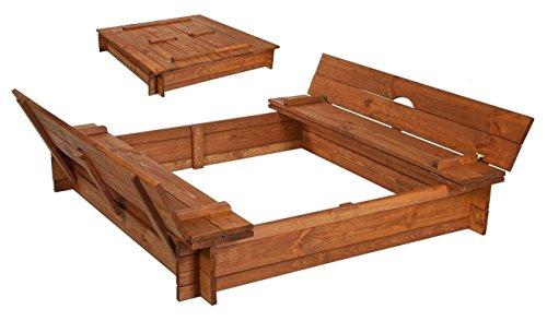 Best of Jam Sandkasten 160x160 mit Sitz inkl. Folie Gegen Unkrauf