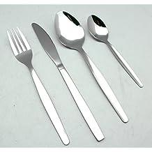 EXZACT EX826 - Conjunto de Cuberteria con 24 Piezas - Acero Inoxidable - 6 Tenedores, 6 Cuchillos, 6 Cucharas, 6 Cucharaditas (Cuberteria x 24)