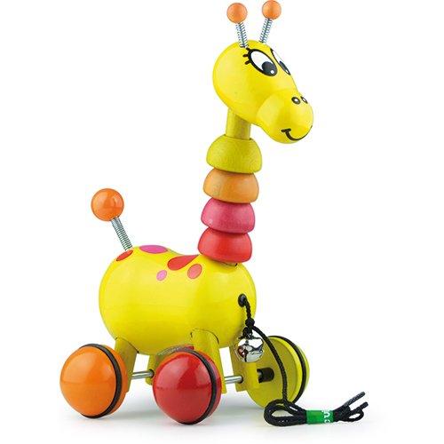 Vilac - 1878 - Jouets à tirer en Bois - Paf la girafe