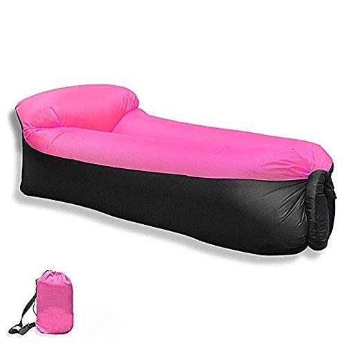 LOVOE Tragbares Aufblasbares Sofa Bett Outdoor Der Strand Faule Liege,Pink