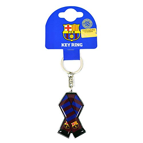 Llavero con diseño de bufanda del FC Barcelona. Con anilla. Tamaño aproximado de 12 cm. Producto con licencia 100%.