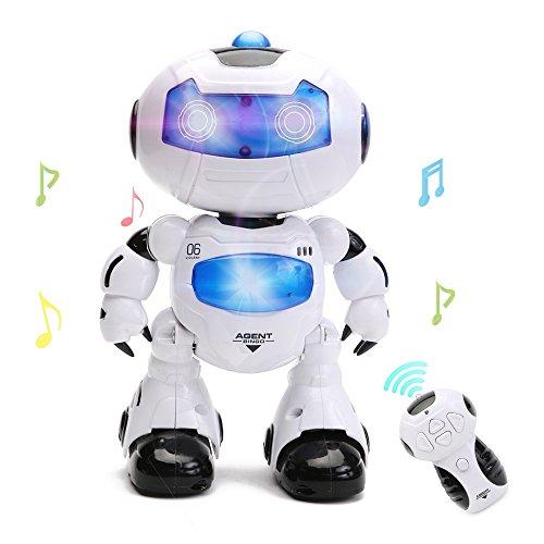 Wishtime Intelligent Robot Jouet pour Enfant Commandé à Distance Jeux électroniques avec Musique et Lumières