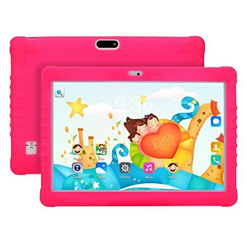 Fcostume Tablet-PC für Kinder 10.1 Zoll Android 7.0 IPS HD Bildschirm 1GB/16 GB Babypad PC mit Bluetooth WiFi Bundle Kids-Proof Case AU,Quad Core CPU,Dual Kamera,4500mAh Batterie (Rot)