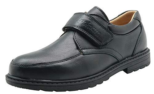 Apakowa de Cuero Modelo Oxford para Niños - Boda/Fiesta/Comunión Color : GD2019-6 Black, Size : 32...