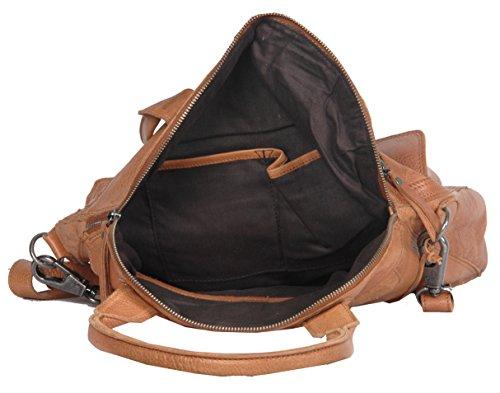 Vilenca Holland  40675 Grau, Cabas pour femme noir Schwarz 39x35x9cm (LxHxB) cognac