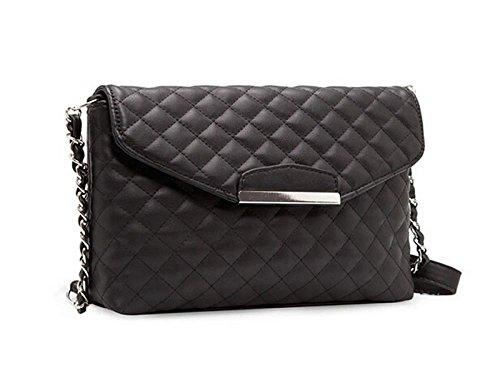 Vovotrade® Borsa a tracolla in pelle borsa delle donne Hobo Messenger (Nero) Nero