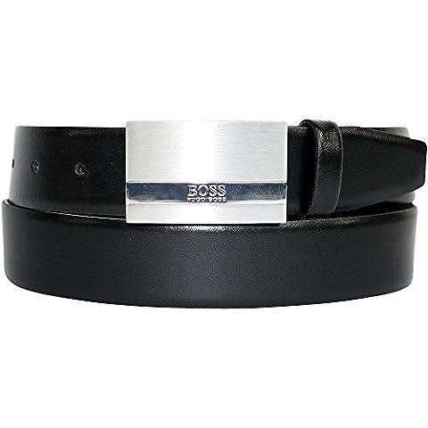 HUGO BOSS Herrengürtel Baxton, Leder, 3,5 cm, Black, 115