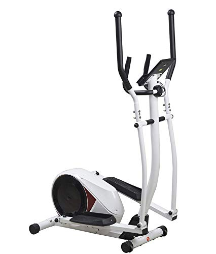 SportPlus Cross Trainer with App-Control, Google Street View, Hand Pulse Sensors, approx. 14 kg Flywheel, 24 Electronic Resistance Levels, Max. User Weight 120 kg, Safety tested