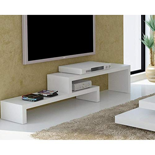 TemaHome Cliff 120 Meuble TV Laque Blanc Mat Design