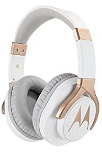 Motorola Pulse 3 Max Over Ear Wired Headphones with Alexa (White)