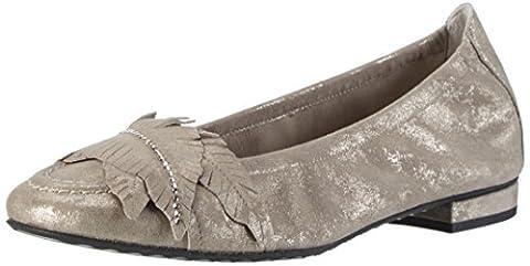 Kennel und Schmenger Schuhmanufaktur Damen Malu Geschlossene Ballerinas, Gold (Taupe/Crystal), 39 EU
