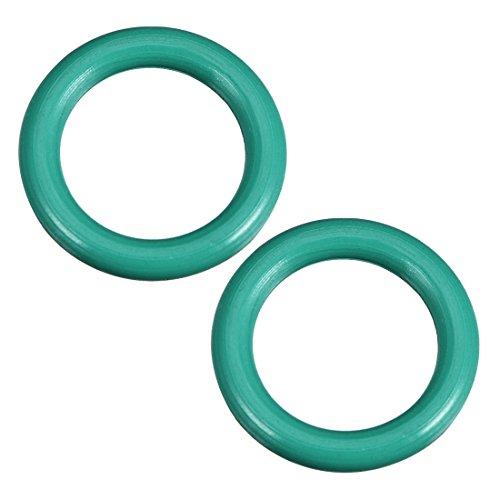 Sourcing map o-ring fluoro gomma 8mm x 12mm x 2mm anelli di tenuta guarnizioni 2pz
