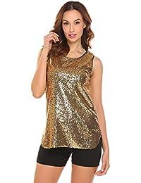 finest selection 134ab 7fc8b Suchergebnis auf Amazon.de für: glitzer shirt damen - Gold ...