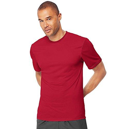 Hanes Mens Cool Dri Performance T-Shirt Deep Red