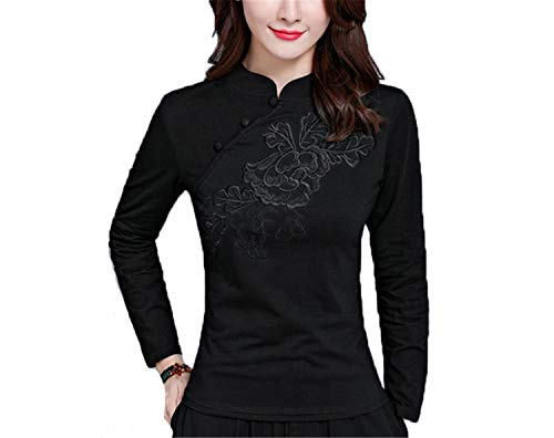 Auspiciousi Cheongsam Top Traditionelle Chinesische Kleidung Damen Tops Damen Langarmshirts