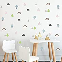 FUZILV Scandinavian Wild Desert Designs Wall Decals For Kids Rooms Decoration Tribal Vinyl Wall Sticker Explorer Nordic Home Decor 20X60Cm
