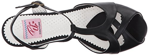 Pin Up Couture Bettie-23, Sandali Donna Schwarz (Blk Faux Leather)