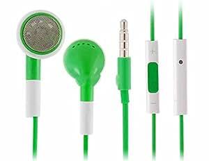 Jack 3,5 mm casque intra-auriculaire avec contrôle du volume pour iPhone, iPod et iPad (vert)