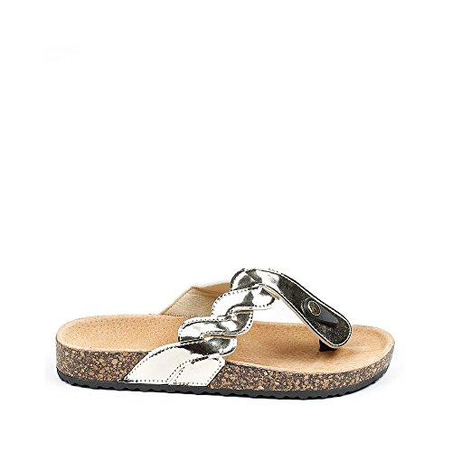 Ideal Shoes , Infradito donna Oro Ideal Shoes , Infradito donna Oro ...