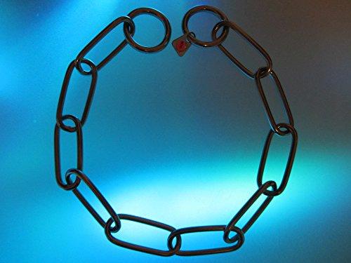 Artikelbild: Sprenger Kettenhalsband Langgliedkette mit 2 Ringen Edelstahl 4 mm für Hunde bis 85 kg (54 cm)