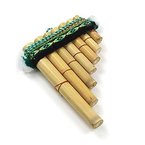 Mystery Mountain Antara Mini Flûte de pan péruvienne facile–PERCUSSION Instrument de musique–Commerce équitable