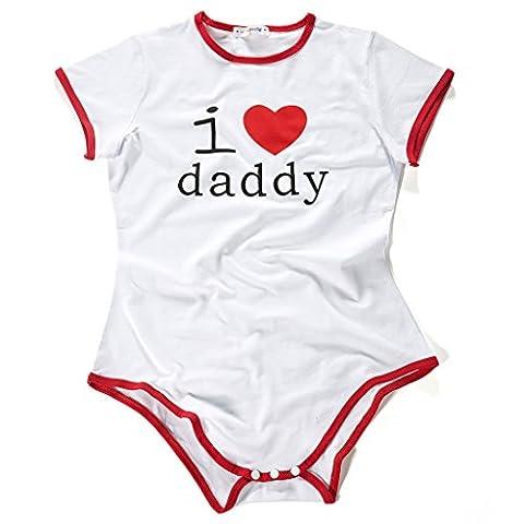 LittleForBig Adult Baby Onesie Diaper Lover (ADBL) Snap Crotch Romper