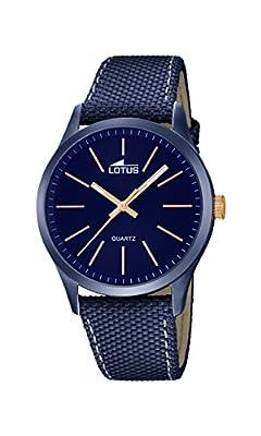 Lotus 18166/2 - Reloj de pulsera hombre, color Azul de Lotus