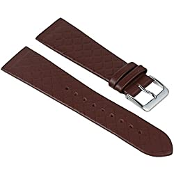 Kopenhagen Manufaktur Replacement Band Watch Band Leather Kalf Strap brown fits for Skagen, Boccia, Bering, Rolf Kremer, DD, Obaku 25948S, width:22mm