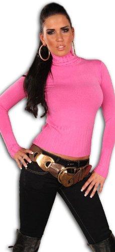 instyle-t-shirt-crayon-uni-femme-rose-rose-36-38