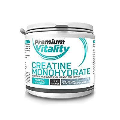 ? Creatine Monohydrate Tablets ? 360 x Creatine Tablets ? Increase Muscle strength, Performance, Energy ? 100% Micronised Creatine Monohydrate Tablets ? Perfect for Optimum Muscle Performance ? Made in UK from Premium Vitality