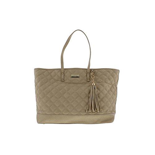BCBG Paris Womens Quilted Faux Leather Tote Handbag Bcbg Paris