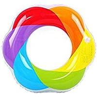 Anillo De Natación Del Arco Iris Anillo De Natación Flotante De PVC Súper Grueso Inflable Anillo De Natación Flotante Adecuado Para El Uso En Adultos