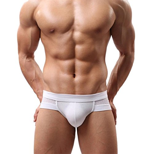 Boxershorts Btruely Herren Sexy Cotton Unterwäsche kurze Hose Männer Boxer Unterhose Weich Slip (XXL, Weiß) (Große Klassische Mann Slips)