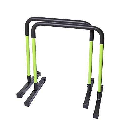 DLSMB-SP Barren Stahl-Barren Doppelte Sicherheitsanschlüsse Fitness-Workout-Dip-Bars Push-Up-Ständer Push-Up-Halter Funktionelle Dip-Ständer (Farbe : Grün, Größe : 65 * 75 * 51cm)