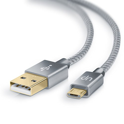 2m Premium Cable MicroUSB a USB de alta velocidad | Nylon trenzado | C