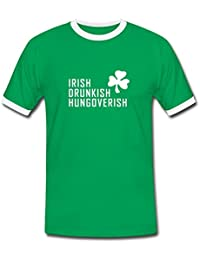 Spreadshirt Hungoverish Saint Patrick's Day Men's Ringer Shirt