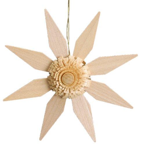 La decorazione di legno 11cm dell'albero di Natale della decorazione dell'albero della stella ha illuminato le montagne del minerale metallifero di Seiffen NUOVE