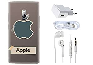 Spygen One Plus 2 Case Combo of Premium Quality Designer Printed 3D Lightweight Slim Matte Finish Hard Case Back Cover + Charger Adapter + High Speed Data Cable + Premium Quality Handfree