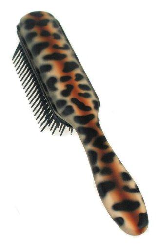 Denman - D3 Panther - Brosse à cheveux - Coussinet en caoutchouc - Motif panthère - 7 rangs