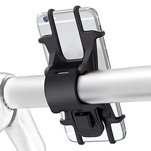 WEIHAO Bike Phone Halter, Fahrrad Telefon-Halterung für Eine 4bis 14cm Smartphone, verstellbar Silikon Lenker Risse, ideal für Road, Mountain Bikes und Motorräder