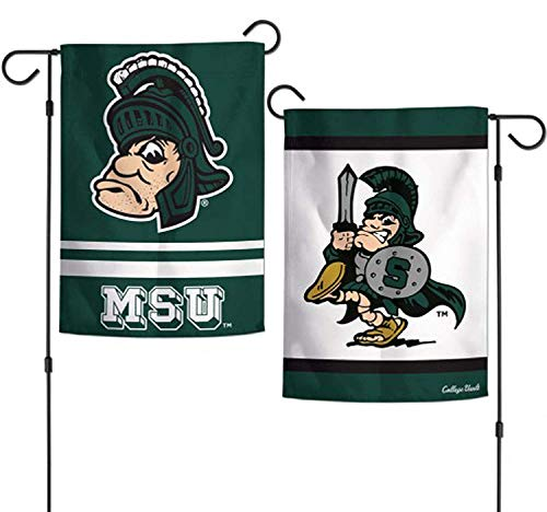 ASKYE Michigan State University NCAA Garden Flag Licensed Double Sided for Party Outdoor Home Decor(Size: 12.5inch W X 18 inch H) -