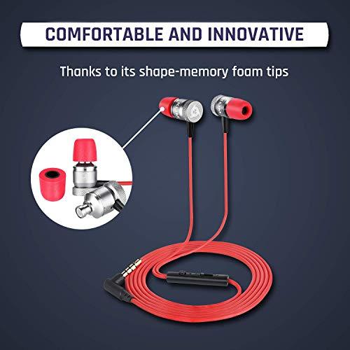 KLIM Fusion In-Ear-Kopfhörer mit Memory Foam, Rot - 4