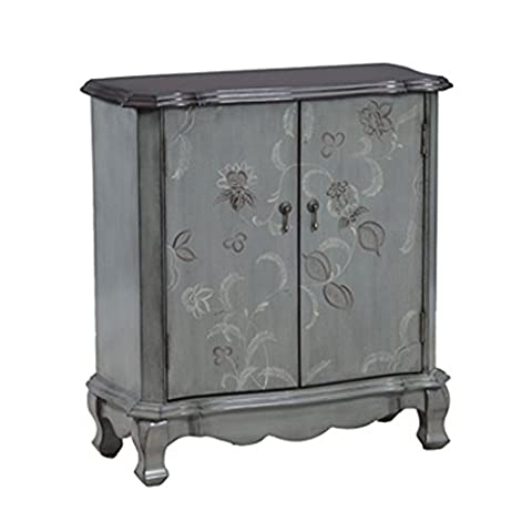 Powell 14A1362C Floral 2-Door Console, Brown