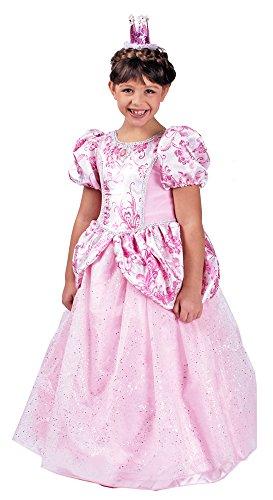 Körner Festartikel Prinzessin Ronya Kleid mit Reifrock - Rosa Gr. 116 128 (Kostüm Panne)